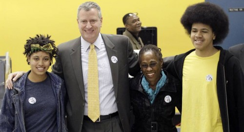 NYC Mayor Race de Blasio